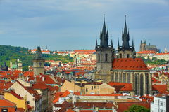 Old Towen Hall, Panorama of Prague, Czech Republic Stock Images