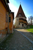 Old tower. An old tower guarding the citadel of Sighisoara Stock Image