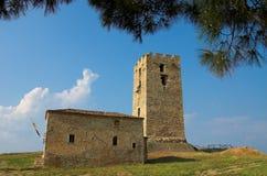 Old tower. Nea Fokea, Halkidiki, Greece Stock Photo