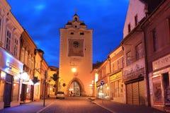 Old tower in Beroun Stock Image