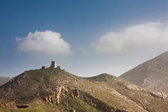 Old tower at Cape Tenaro Royalty Free Stock Image