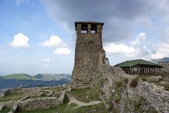 Old tower in castle areal in Kruje, Albania Stock Images