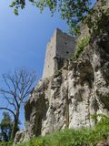 Old tower from castle in Croatia Royalty Free Stock Photo