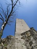 Old tower from castle in Croatia Royalty Free Stock Images