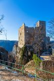 Old tower of the castle Reussenstein stock image