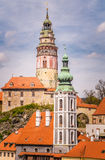 Old tower of Cesky Krumlov in South Bohemia Royalty Free Stock Photo