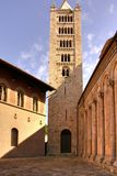 Old tower and church, Italy Stock Photo