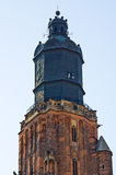 Old tower of the church in Wroclaw, Poland Royalty Free Stock Photography