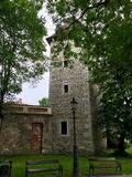Old tower in the city of Wieliczka, Poland stock photos