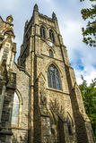 Old Tower Clock. An Anglican Church in Montreal Royalty Free Stock Photo