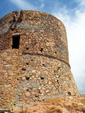 Old tower - Corsica. The old tower on Capo Rosso,  Corsica Stock Photos