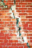Old tower cracked wall. Kremlin in Kolomna, Russia. Stock Photo