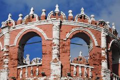 Old tower of Don Icon monastery in Moscow. Opular landmark. Color photo stock photos