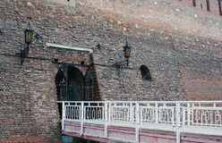 Old tower. Entrance to the Kremlin in Kolomna, Russia. Stock Images