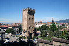 The old tower of Florence. Excursion to the observation in Florence with panoramic views of the city royalty free stock photos