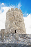 Old tower fortress on clear sky Stock Images