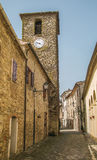 The old tower of Frontino village Royalty Free Stock Photo
