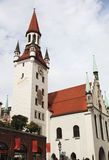 Old tower. In the heart of Munich Royalty Free Stock Images