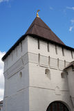 Old tower in Holy Transfiguration monastery at evening. Stock Photography