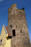 Old tower in Kaysersberg in Alsace Royalty Free Stock Photography