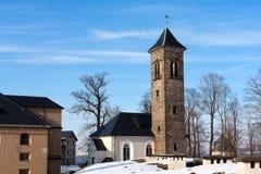 Old tower in Koeningshtine castle Stock Images