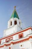Old tower in Kolomenskoye park in winter. Royalty Free Stock Photo