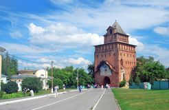 Old tower. Kremlin in Kolomna, Russia. Royalty Free Stock Photos