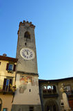 Old tower in Lovere, Lake Iseo, Italy Royalty Free Stock Image