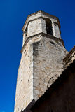 The old tower in medieval town of Besalu Stock Photos