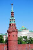 Old tower of the Moscow Kremlin in spring. Royalty Free Stock Photo