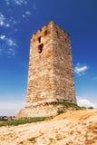 Old tower, Nea Fokea, Halkidiki Stock Photo