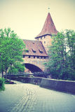 Old tower in Nuremberg Royalty Free Stock Photos