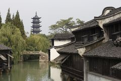 Old tower in the old china water town. Xi shan tower have a long history。its a good way to treval Stock Photos