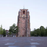Old tower oldehove in capital of friesland, leeuwarden, in warm Stock Photography