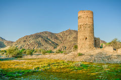 Old tower in oman Stock Image