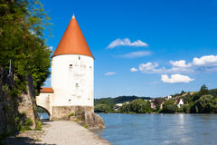 Old tower in Passau, Germany Royalty Free Stock Images