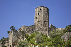 Old tower in Pocitelj. Bosnia and Herzegovina Royalty Free Stock Photography