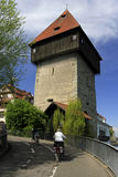 Old tower Rheintorturm in Konstanz Royalty Free Stock Images