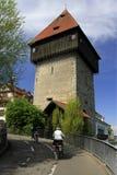 Old tower Rheintorturm in Konstanz Royalty Free Stock Images