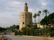 Old tower in Seville Stock Photography