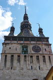 Old tower in Sighisoara, Romania Stock Photography