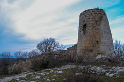 An old Tower. Somewhere in Crimea, an old tower built by ancient tatars Stock Photo