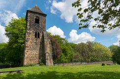 The Old Tower. Of St Mary's Church Mirfield, West Yorkshire, England built in the 13th Century Stock Photo