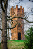 Old tower. Standing on a hill Royalty Free Stock Photos