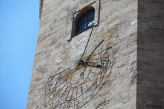 Old Tower sundial Stock Images