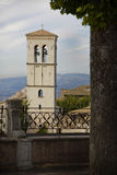 Old tower in the Tuscany town of Assisi Royalty Free Stock Photo