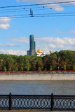 Old tower under renovation. Novodevichy convent, Moscow. Royalty Free Stock Images