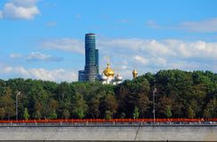 Old tower under renovation. Novodevichy convent, Moscow. Royalty Free Stock Photos
