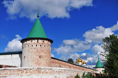 Old tower and walls of Hypatian monastery, Kostroma Royalty Free Stock Photo