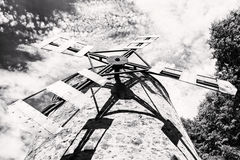 Old tower windmill in Holic, Slovakia, architectural theme, blac Royalty Free Stock Photos
